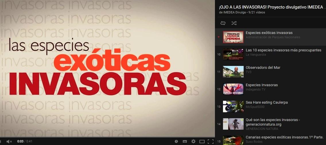 YouTube OjoInvasoras